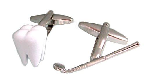 magdalena r. Zahn Instrument Manschettenknöpfe Weiss und silbern + Geschenkbox