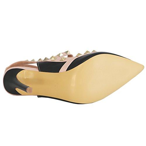 Eks - Schwarz-matte Zapatos De Mujer Con Tacón