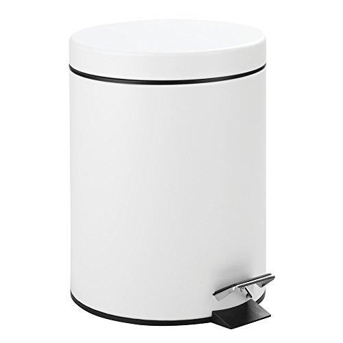 Interdesign 5Liter Stahl Schritt können mit Eimer Einsatz für Badezimmer weiß