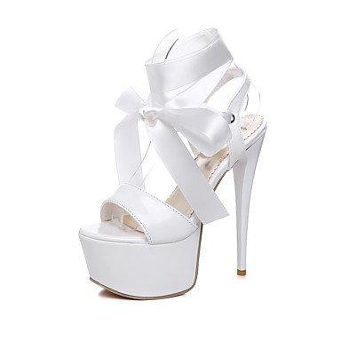 LvYuan Da donna-Sandali-Matrimonio Formale Serata e festa-Comoda Cinturino alla caviglia-A stiletto-Seta Vernice-Nero Rosso Bianco Black
