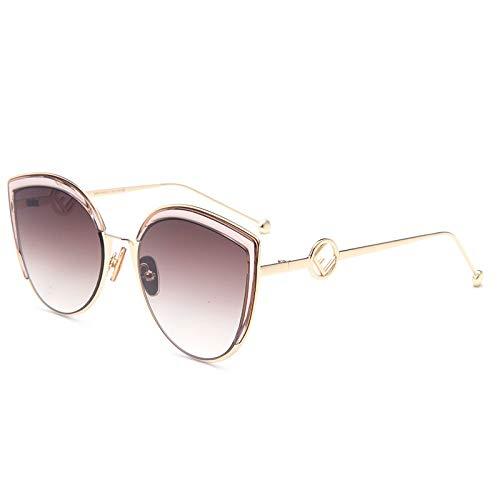 Katzenauge-Art- und Weisefahrspiegel-Frau Personality Sunglasses Gold Pink