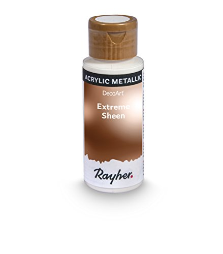 Rayher Hobby 35014665 Extreme Sheen Metallic-Farbe, antique bronze, Flasche 59 ml, Acrylfarbe metallic, patentierte Rezeptur -