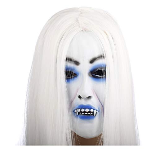 SP-Chopsticks tube Halloween Maske Weiß Haar Hexe Latex -