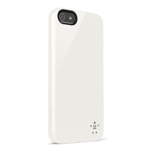 Belkin F8W158VFC01 Grip Case - Cover Custodia per iPhone 5/5S/SE, Rosso White