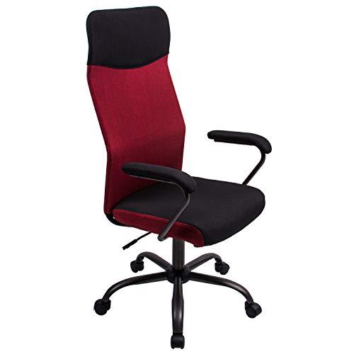 Poptoy - Silla de escritorio giratoria con respaldo alto con malla y altura ajustable para el hogar y la oficina …