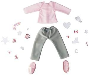 Corolle-Conjunto Pijama y Zapatillas con customiser para muñeca Ma Chérie creación, fpr74