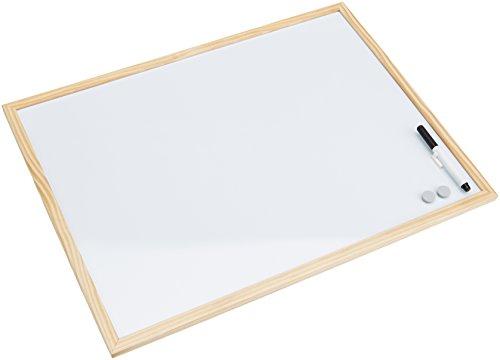 Bi-Office Budget - Pizarra blanca magnética con marco de madera de pino,...