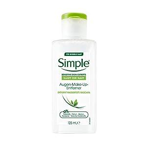 Simple Sanft zur Haut Augen-Make-Up-Entferner für sensible Haut entfernt wasserfeste Mascara 125 ml 1 Stück