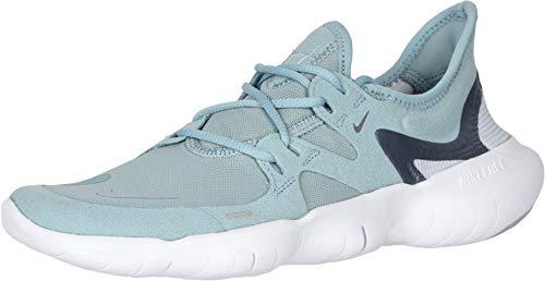 Nike Free RN 5.0 Women's Running Shoe Ocean Cube/MTLC Cool Grey-Pure Platinum Size 8