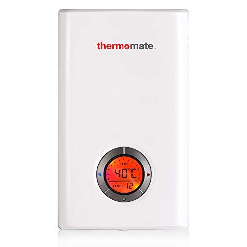 Thermomate ELEX9.6 9.6kW Calentador de Agua Instantáneo Eléctrico sin Tanque, con LED...