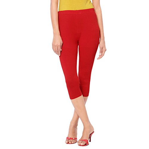 Leggings Capri Style Blood Red For Women | 95 % Cotton and 5 % Lycra| 3/4th leggings| Free Size Comfortable Premium Quality | Ultra Soft Fabric | High Waist For Girls | Best Fits 24\'\' To 34"|500|500|?|en|2|d8e02e46a84eac583321b2be416f90e9|False|UNLIKELY|0.32505008578300476