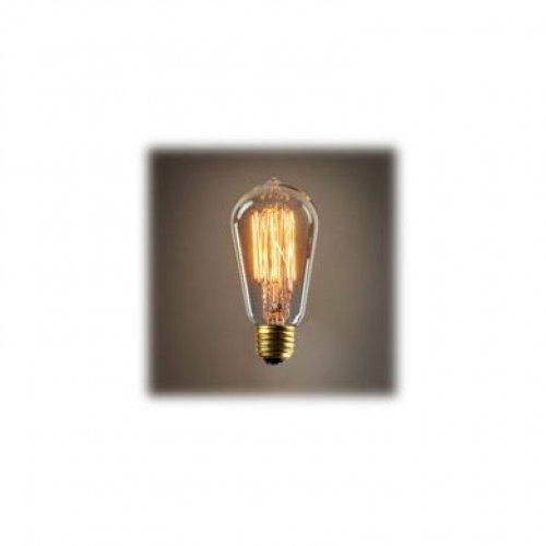 Kingso lampadina edison e27 con incandescenza vintage st64 60w 220v lampada decorativa al tungsteno lampada a filamento classic antique dimmerabile bianco caldo
