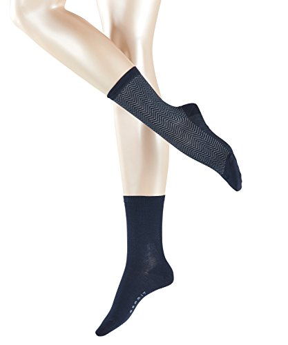 ESPRIT Women's Zigzag Socks pack of 2