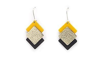 Boucles d'oreille graphiques THRIO en cuir / légères et originales