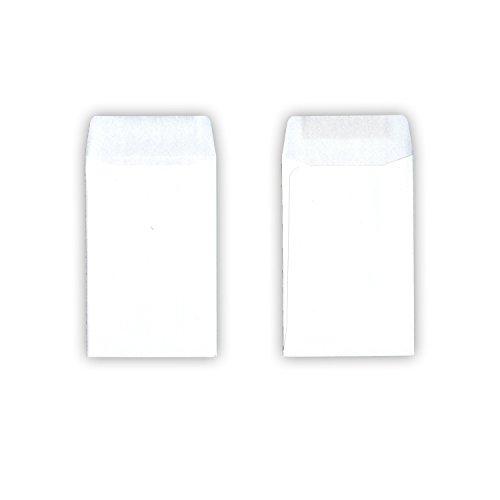 50 Stück - Kleine Papiertüten / Mini-Tütchen (weiß, 10 x 6,2 cm, nassklebender - Papier-münzen-beutel