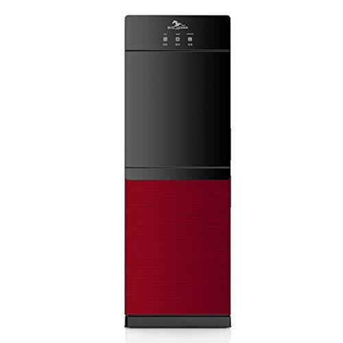 Freistehende Heiß- & Kaltwasserspender, Wasserspender 5 Gallonen Top Loading, Wasserkühler mit Kindersicherheitsschloss und gehärtete Glastür (Color : Red)