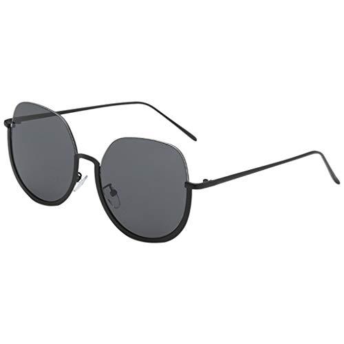 fazry Herren Damen Persönlichkeit Steampunk Retro Brille Brillen Sonnenbrille (Schwarz)