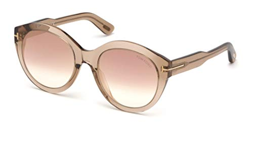 Tom Ford Sonnenbrillen Rosanna FT 0661 Light Brown/Brown Shaded Damenbrillen