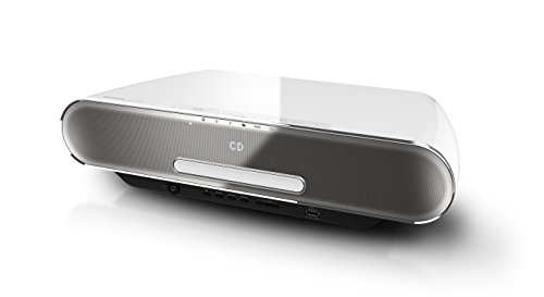 Panasonic SC-ALL7CDEGW Stilvolles HiFi (Multiroom, Wifi, Bluetooth, Musik-Streaming, CD Player,UKW/DAB+, USB, 4 GB) Weiß