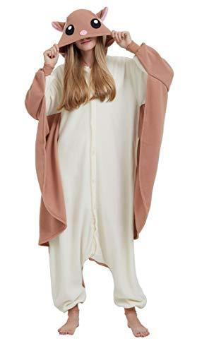 SAMGU Einhorn Adult Pyjama Cosplay Tier Onesie Body Nachtwäsche Kleid Overall Animal Sleepwear Erwachsene Ratte M