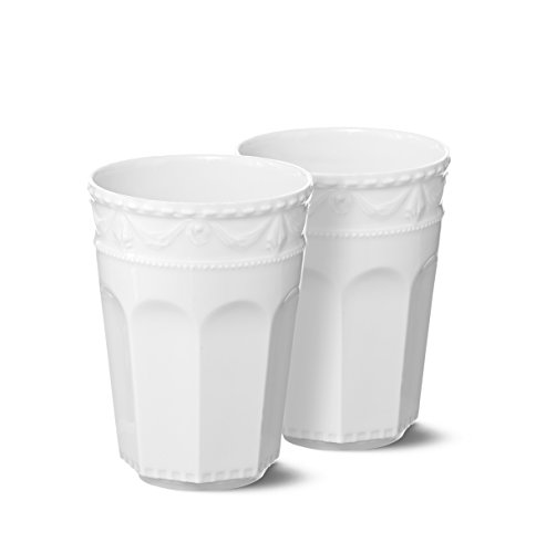 KPM Berlin Kurland Latte Macchiato Becher Duo-Set Größe-2 0.3 L , Porzellan, Weiß, 2-teilig, in Geschenkverpackung