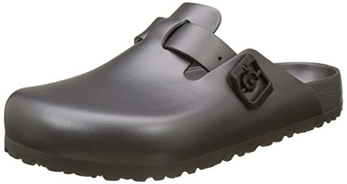BIRKENSTOCK Boston Eva, Herren Clogs, Grau (Metallic Anthracite), 43 EU (9 UK) (Boston Antik Clogs)