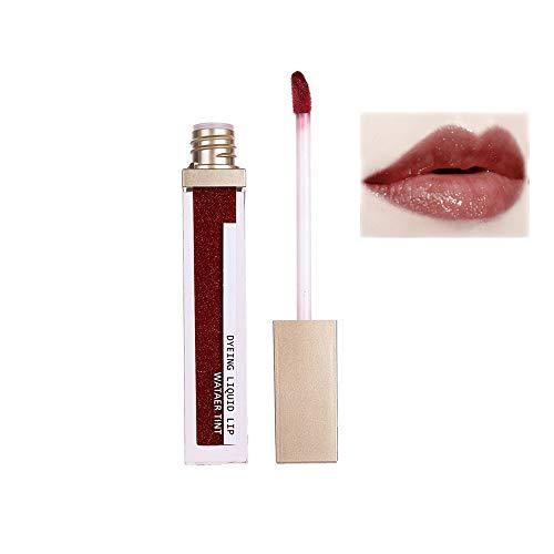 7 High Shine Lip Gloss (Switty 1PC nette Sky Lippenstifte Frauen Lippen Glitter Wasserdicht Long Lasting Lip Gloss High Shine Lipgloss Glitter Schimmer Lippenstift Plumping (07))