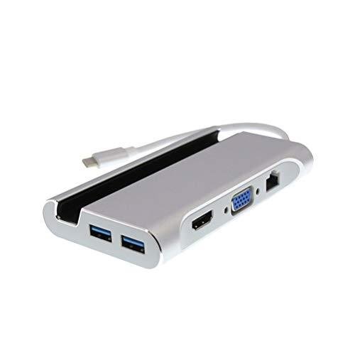 Preisvergleich Produktbild LEDMOMO 7 in 1 Typ C PD Ladeadapter C zu 4K HDMI VGA Ethernet 3 USB 3.1 Port