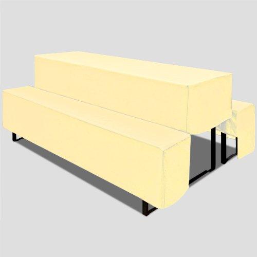 Husse Bierzeltgarnitur 180 cm cream 3er Set