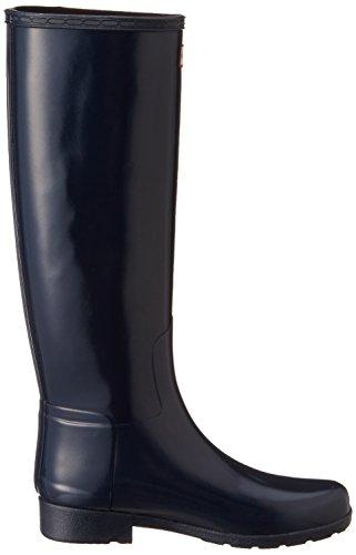 Hunter Original Refined Gloss Damen Stiefel Schwarz Marine