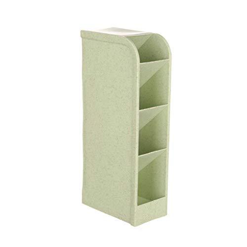 Censhaorme 4 Grids Desktop-Schmuck Storage Box Container Makeup Organizer Home Office Kosmetik Pen Lagerplätze (Bleistifte Gefärbt Qualität)