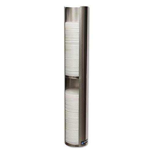 San Jamar L3402Wandhalterung Deckel Spender, doppeltem Deckel, 1Ärmel Kapazität, 6oz Hinweis oz Cup-Größe, 597mm Tube Länge, 101mm Deckel Durchmesser (Espresso-wandhalterung)
