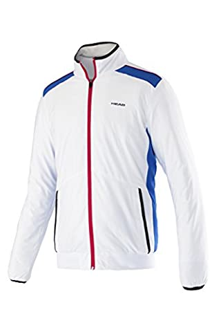 HEAD unisex Oberkörper Bekleidung Club Jacket Jacket Head Men's Club Woven Jacket - White, X-Large, Multi-Colored (White / Red / Blue) (Mehrfarbig), XL