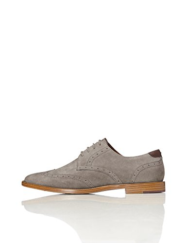 FIND Men's Casual Brogues, Grey (Grey), 9 UK