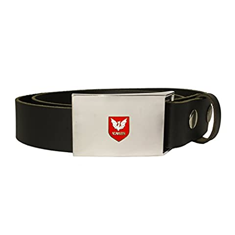 Scarlets rugby leather snap fit belt