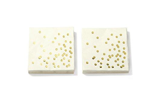 Kate Spade New York Cocktail Servietten, Queue die Konfetti, gold dots