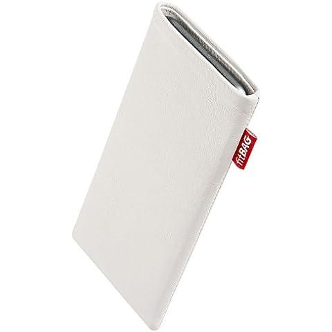 fitBAG Beat Bianco - Custodia per cellulare per Palm Pre, in pelle nappa con imbottitura in microfibra - Palm Pre In Pelle
