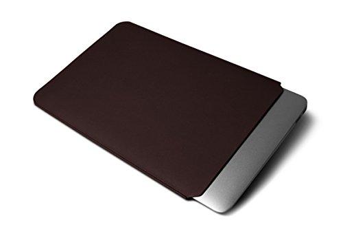 Lucrin - Housse pour MacBook Air 13 pouces - Cuir Lisse Bordeaux