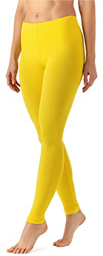 Leggins Largos Mallas Amarillas Deportivas Mujer (Limón, L)