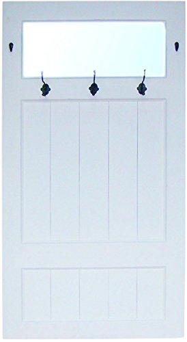 My Flair Garderobe Maritim mit Spiegel im Landhausstil, 74 x 140 x 10 cm