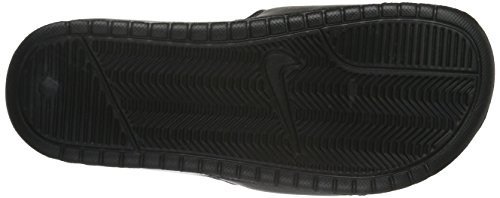 Nike Unisex-Erwachsene Benassi Swoosh Sandalen Schwarz (Black/White)
