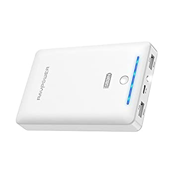Portable Charger Ravpower 16750mah Power Bank External Battery Pack With Most Powerful 4.5a Output & Ismart Technology - White 0