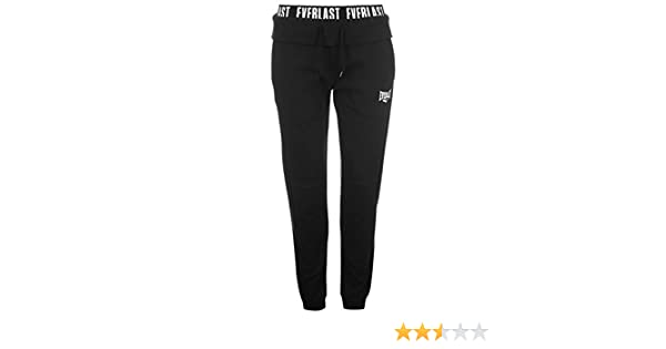 09e5cbd117 Everlast Femme Pantalon Bas De Survêtement Jogging Polaire Sport Cheville  Serrée Noir L: Amazon.fr: Vêtements et accessoires