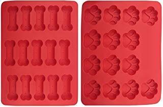 sanvan Silikon Form, 2Stück, Pfoten & Knochen Hund behandelt Backen Maschine für Tierliebhaber Backen, Küche, Kuchen, Schokolade, Candy