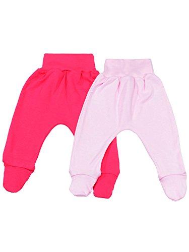 klekle Baby Mädchen Pump Strampel Baggy Hose (2er Pack) Rosa Uni Pink Uni 22763 Größe 80 Pink Collection-pyjama Set