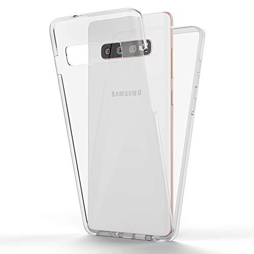NALIA 360 Grad Handyhülle kompatibel mit Samsung Galaxy S10, Full-Cover Silikon Bumper...