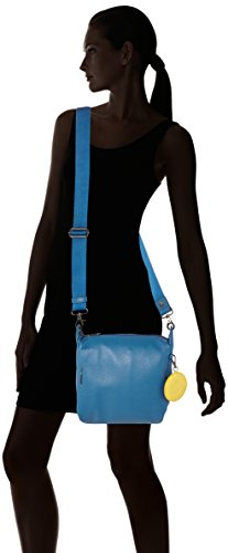 Mandarina Duck - Mellow Leather Tracolla, Borsa a tracolla Donna Blu (Midnight)