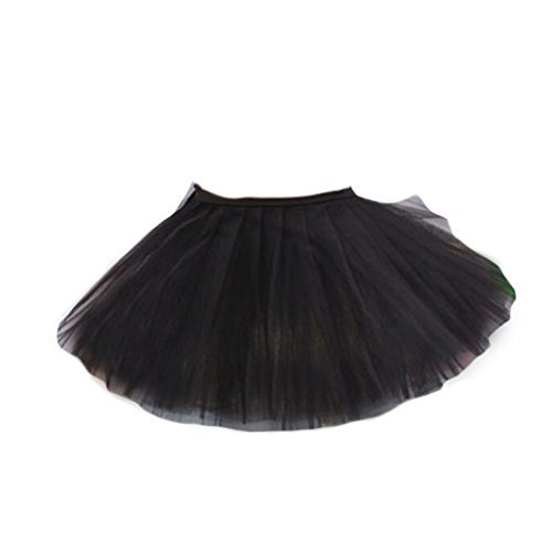 Drei Schichten Garn Tanz-Rock-Kind Schwanensee Kostüme Ballett-Kleid-Schwarz (Kinder Schwanensee Kostüm)