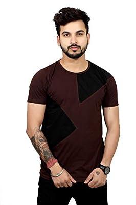 THE EG STORE Designer Round Neck Half Sleeve Cotton T Shirt for Mens