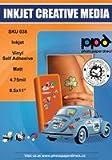 PPD Vinylfolie Aufkleberfolie für Tintenstrahldrucker weiß matt selbstklebend A4 x 20 Blatt PPD38-20